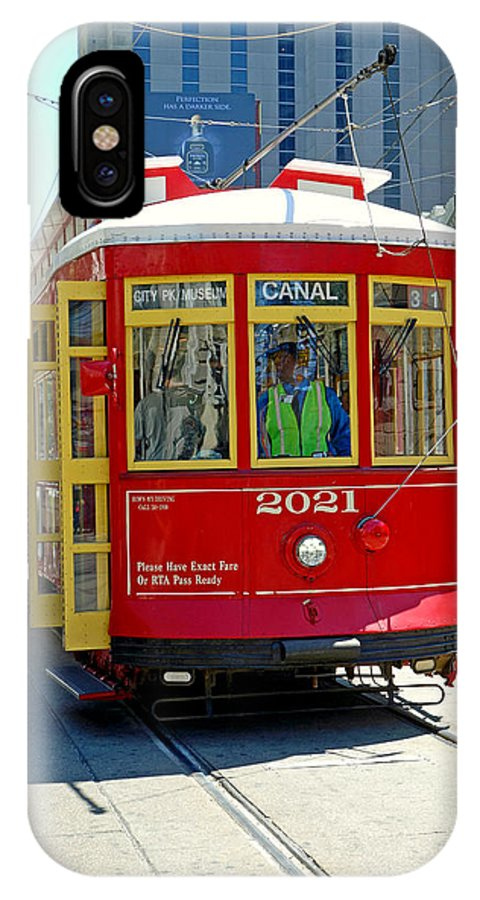 Canal IPhone X Case featuring the photograph Canal Street Cable Car by Robert Meyers-Lussier