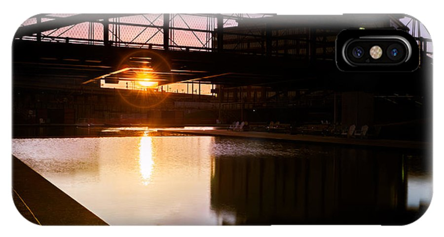 Buffalo Sunrise IPhone X Case featuring the photograph Canalside Dawn No 2 by Chris Bordeleau