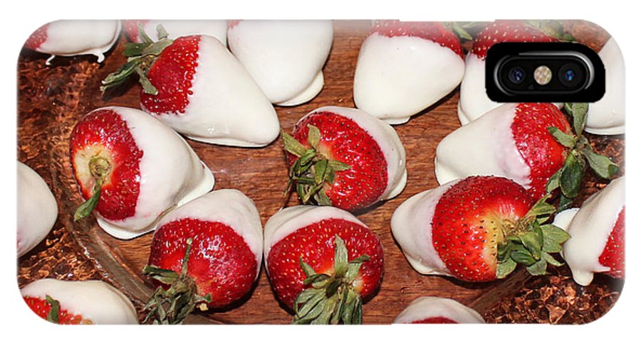 Strawberries IPhone X Case featuring the photograph Candied Strawberries by Lorraine Baum