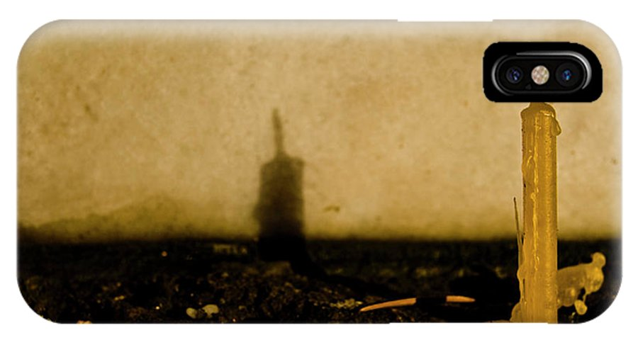 Candle IPhone X Case featuring the photograph Candle by Grebo Gray