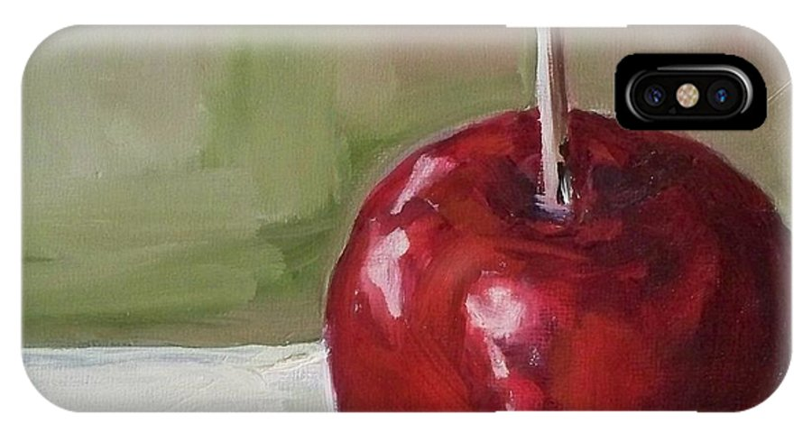Candy IPhone X Case featuring the painting Candy Apple by Kristine Kainer