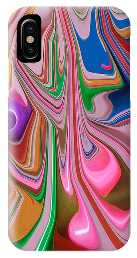 Abstract IPhone X Case featuring the photograph Candy Melt by Florene Welebny