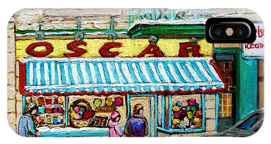 Candy Shop IPhone X Case featuring the painting Candy Shop by Carole Spandau