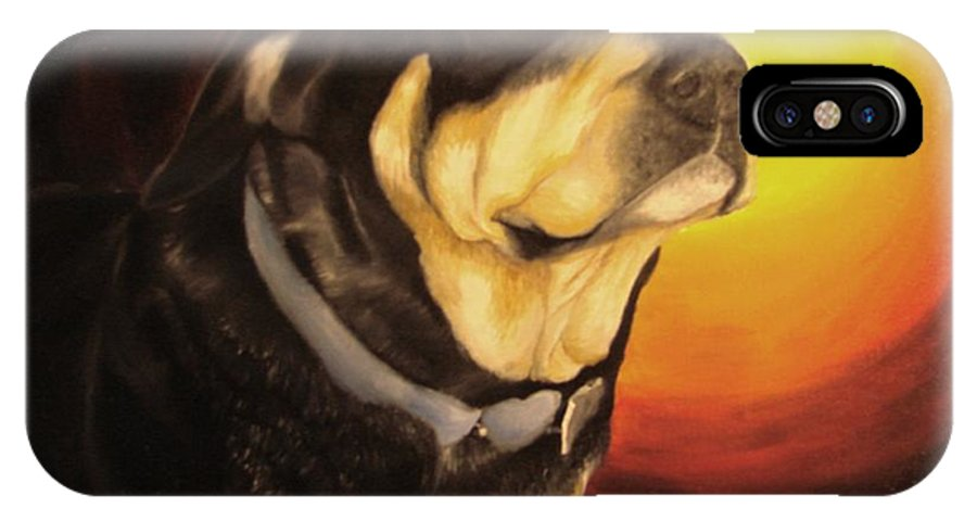 Paintings IPhone X Case featuring the painting Canine Vision by Glory Fraulein Wolfe