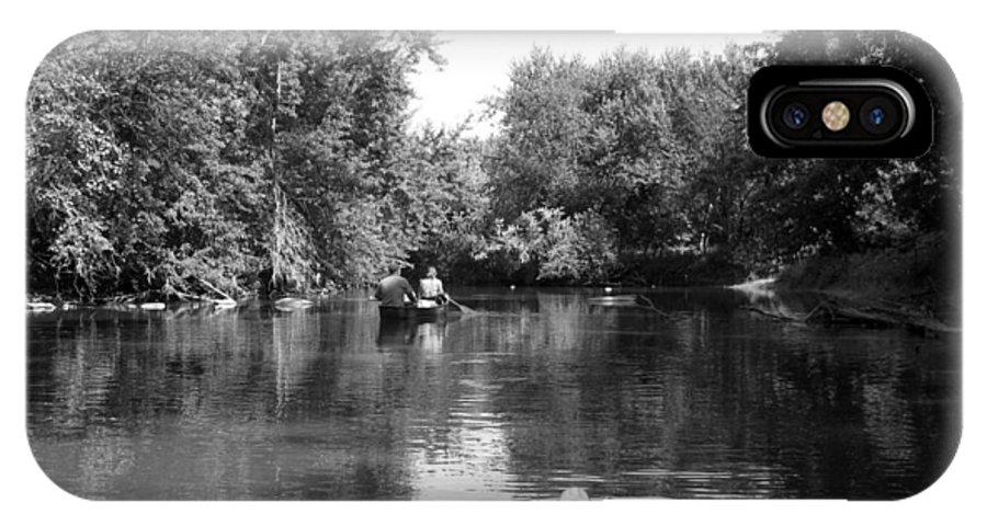 Canoe IPhone X Case featuring the photograph Canoe Joy by Joni Moseng