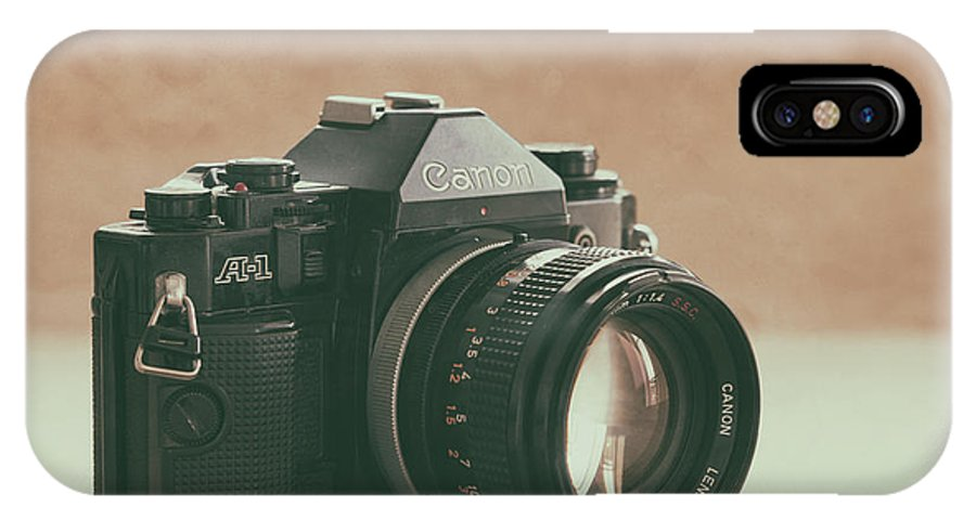Vintage IPhone X Case featuring the photograph Canon A1 by Ana V Ramirez