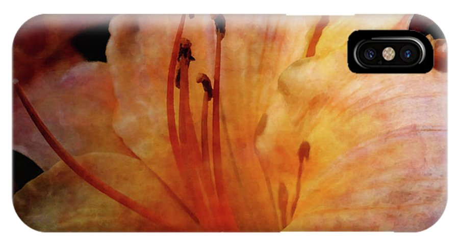 Impressionist IPhone X Case featuring the photograph Cantaloupe Lily 3683 Idp_2 by Steven Ward