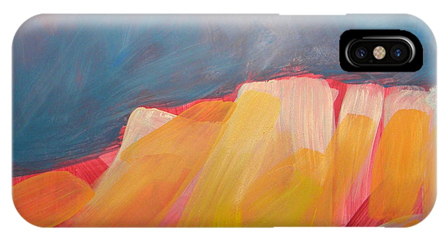 Canyon IPhone X Case featuring the painting Canyon Dreams 1 by Pam Van Londen