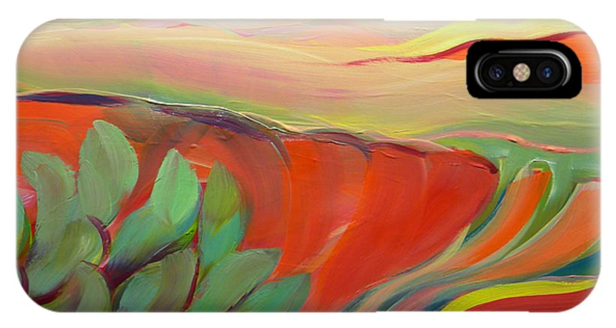 Southwest IPhone X Case featuring the painting Canyon Dreams 11 by Pam Van Londen