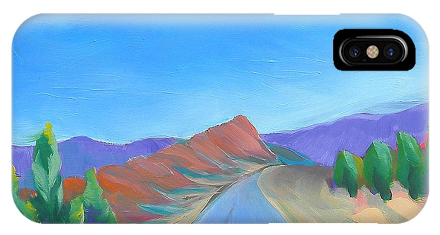 Southwest IPhone X Case featuring the painting Canyon Dreams 13 by Pam Van Londen