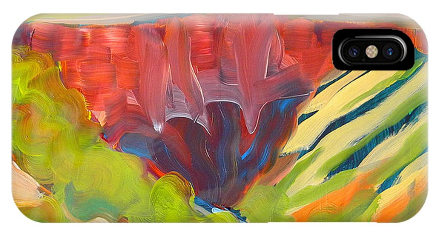 Southwest IPhone X Case featuring the painting Canyon Dreams 15 by Pam Van Londen