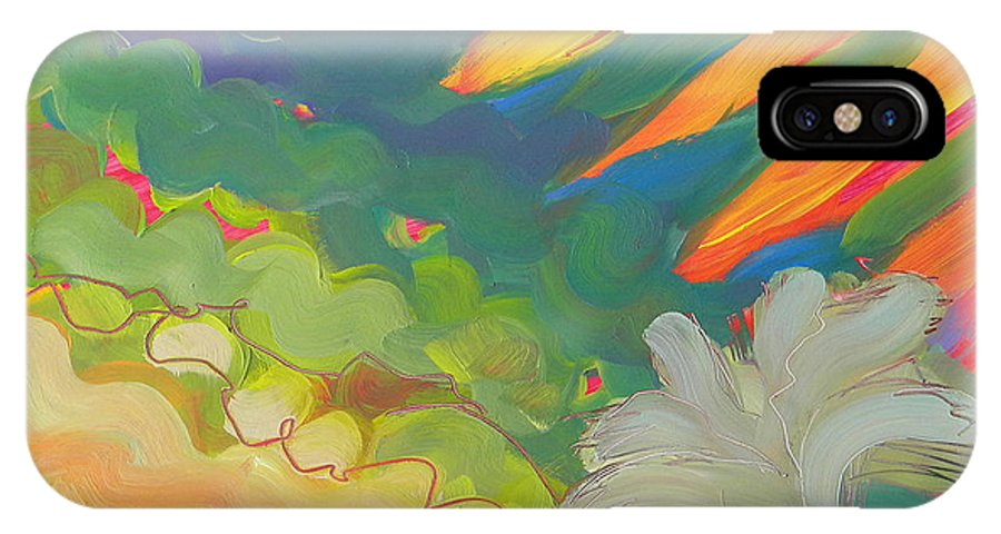 Southwest IPhone X Case featuring the painting Canyon Dreams 17 by Pam Van Londen