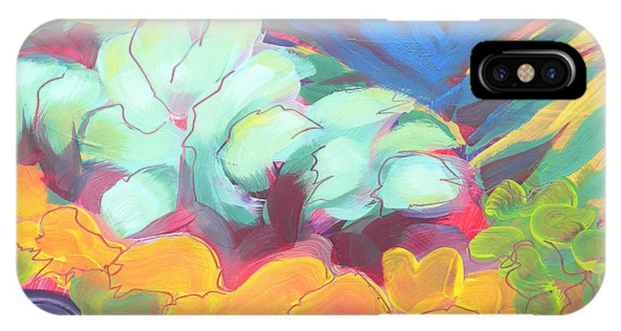 Southwest IPhone X Case featuring the painting Canyon Dreams 18 by Pam Van Londen