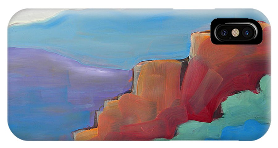 Southwest IPhone X Case featuring the painting Canyon Dreams 20 by Pam Van Londen