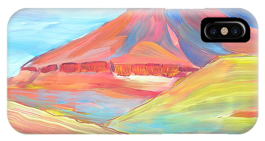 Southwest IPhone X Case featuring the painting Canyon Dreams 21 by Pam Van Londen
