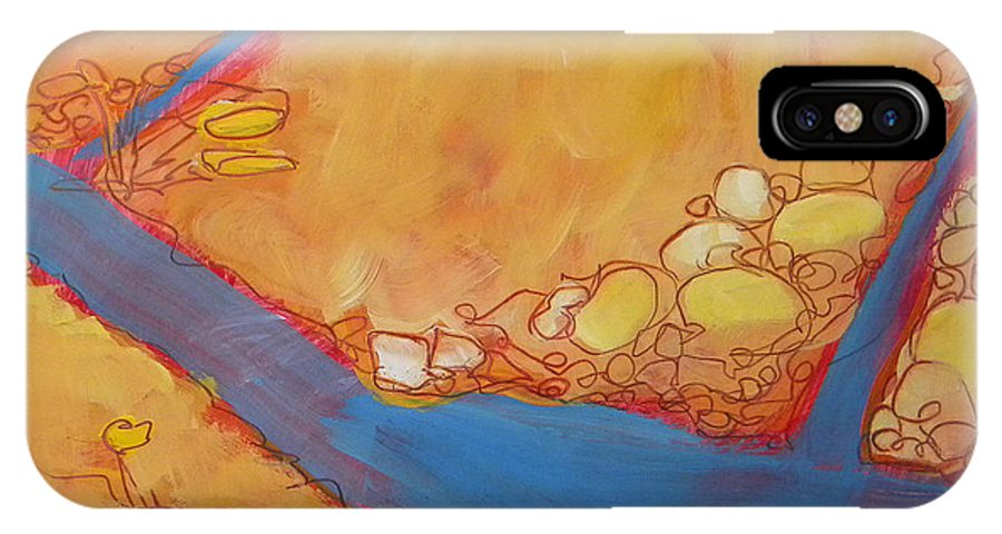 Southwest IPhone X Case featuring the painting Canyon Dreams 24 by Pam Van Londen
