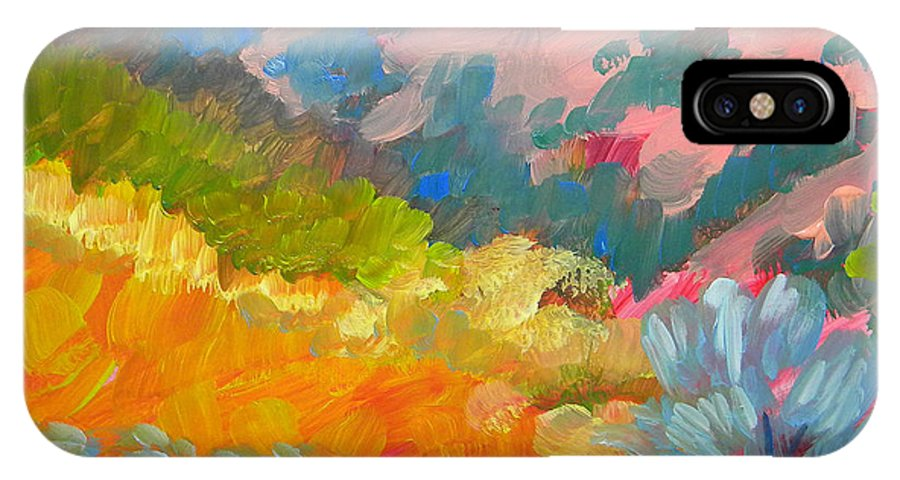 Southwest IPhone X Case featuring the painting Canyon Dreams 7 by Pam Van Londen