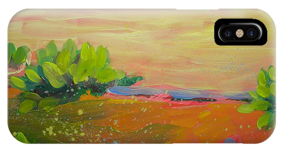 Southwest IPhone X Case featuring the painting Canyon Dreams 8 by Pam Van Londen