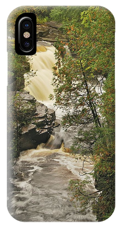 Michigan IPhone X Case featuring the photograph Canyon Falls 2 by Michael Peychich