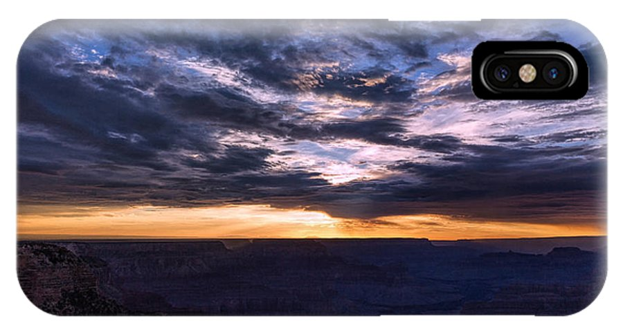 Landscape IPhone X Case featuring the photograph Canyon Light Show by John M Bailey