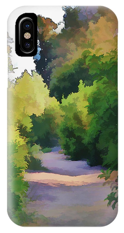 Linda Brody IPhone X Case featuring the digital art Canyon Path IIi Painterly by Linda Brody