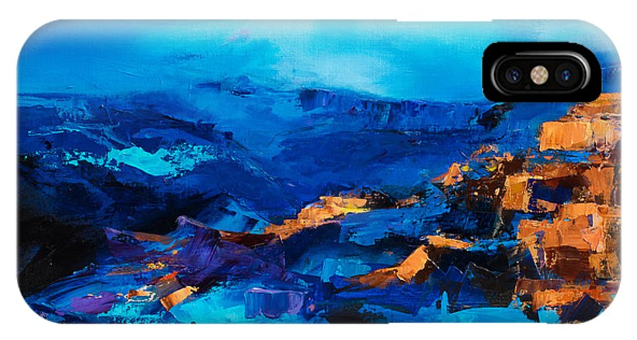 Grand Canyon IPhone X Case featuring the painting Canyon Song by Elise Palmigiani