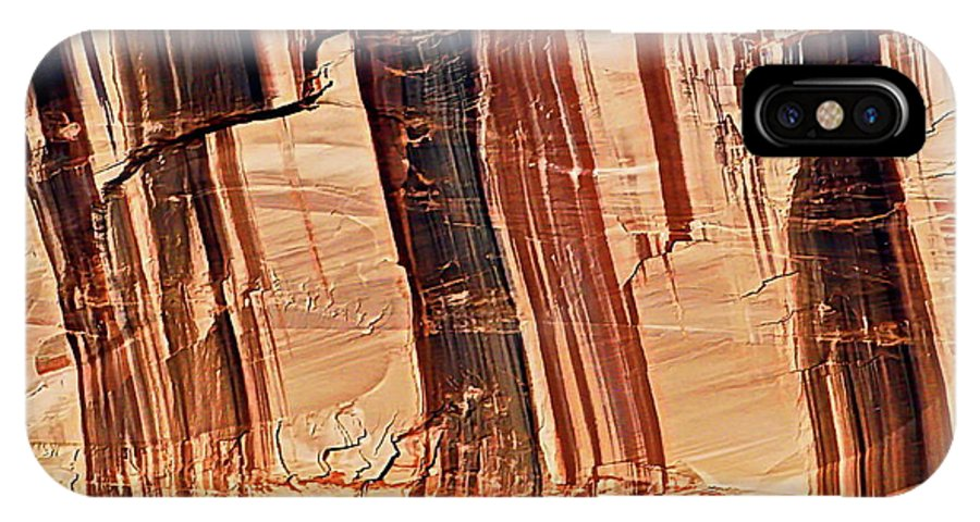 Digital Color Photo IPhone X Case featuring the photograph Canyon Textile Design by Tim Richards