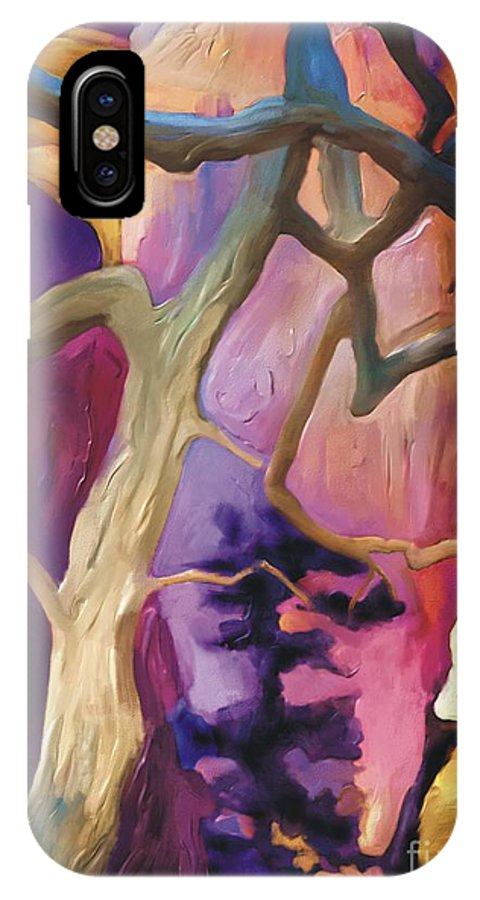 Grand Canyon IPhone X Case featuring the painting Canyon View by Bob Salo