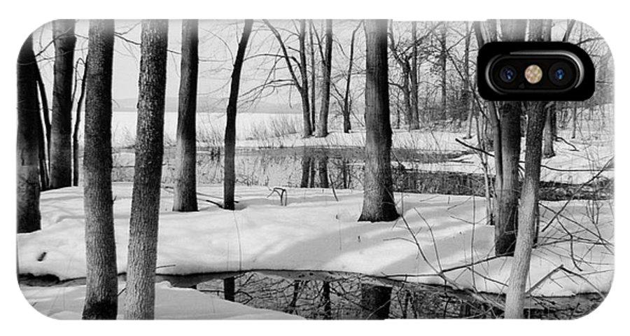 Winter Landscape IPhone X Case featuring the photograph Cap Saint Jacques by Jacqueline Milner