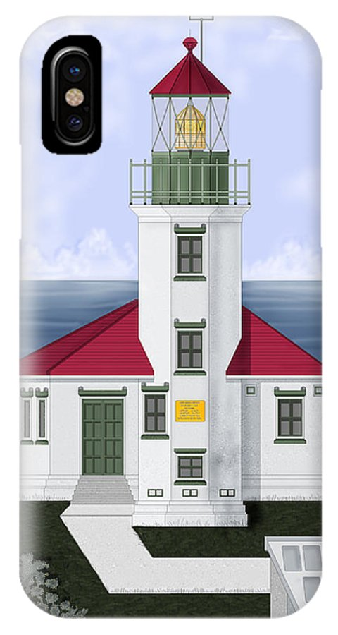 Cape Arago IPhone Case featuring the painting Cape Arago Oregon by Anne Norskog