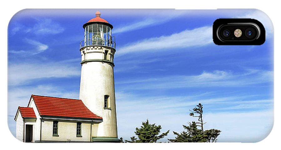 Lighthouse IPhone X Case featuring the photograph Cape Blanco Lighthouse by James Eddy