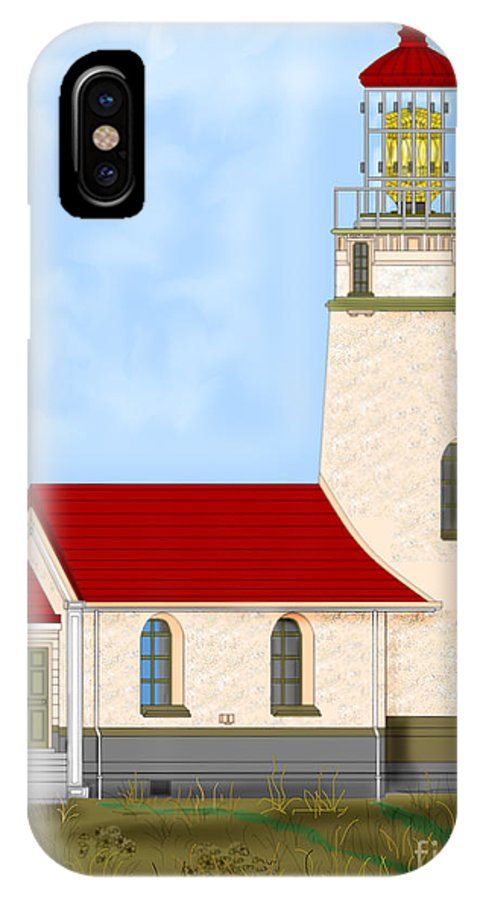 Lighthouse IPhone X Case featuring the painting Cape Blanco Oregon by Anne Norskog