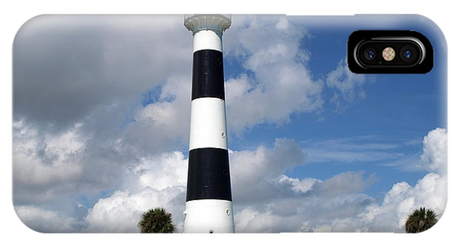 Lighthouse; Light; Canaveral; Cape; Cape Canaveral; Ccafs; Florida; East; Coast; Kennedy; Space; Cen IPhone X Case featuring the photograph Cape Canaveral Light Florida by Allan Hughes
