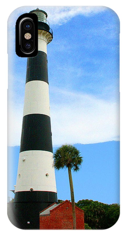 Lighthouse IPhone X Case featuring the photograph Cape Canaveral Lighthouse by W Gilroy
