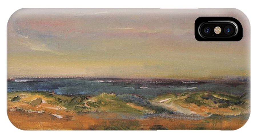 Nature IPhone X Case featuring the painting Cape Cod Marsh by Michael Helfen