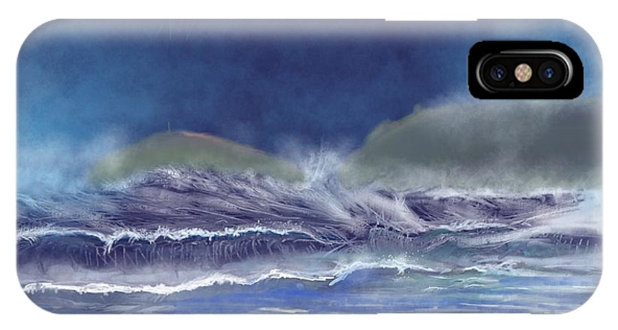 The Cape From Sennan Cove IPhone X Case featuring the digital art Cape Cornwall by Kevin Collins