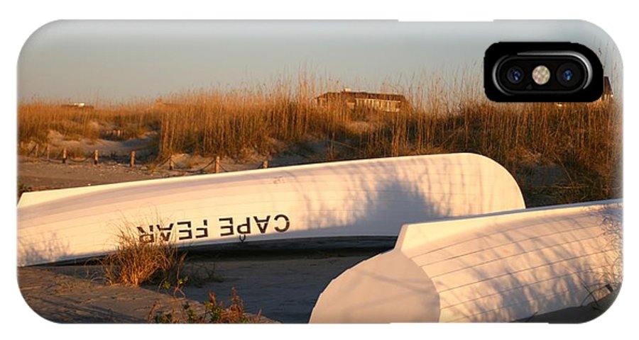 Boats IPhone X Case featuring the photograph Cape Fear Boats by Nadine Rippelmeyer
