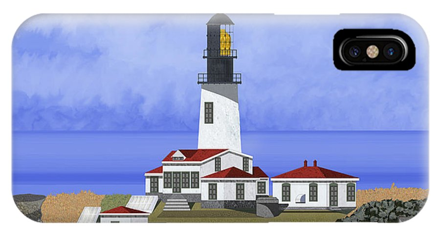 Seascape IPhone Case featuring the painting Cape Flattery Lighthouse On Tatoosh Island by Anne Norskog