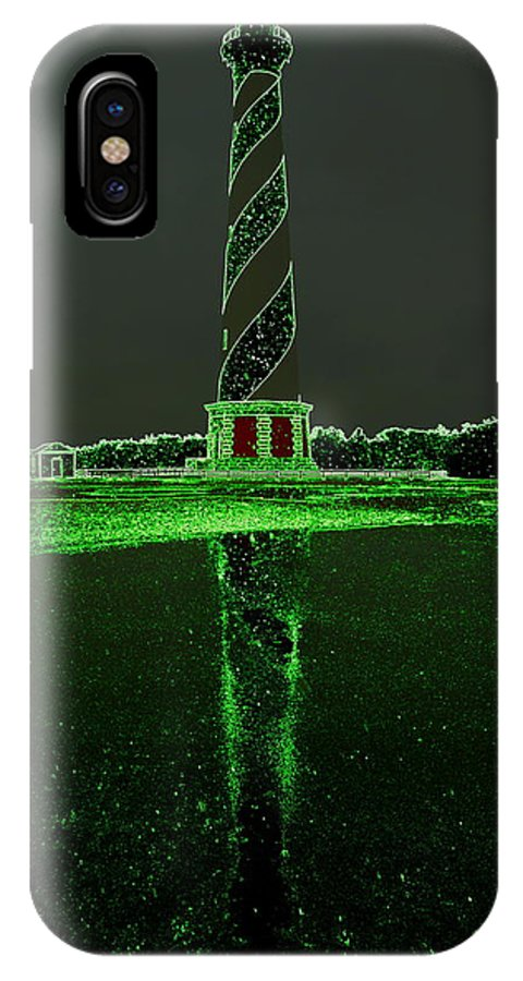 Cape Hatteras Lighthouse North Carolina Obx Outer Banks Water Trees Reflection IPhone X Case featuring the photograph Cape Hatteras Lighthouse Green 6 21216 by Mark Lemmon
