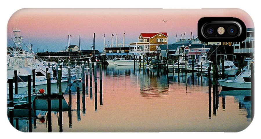 Cape May IPhone X Case featuring the photograph Cape May After Glow by Steve Karol