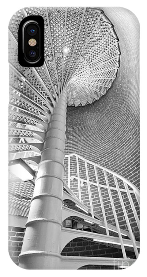 Cape May Lighthouse IPhone X Case featuring the photograph Cape May Lighthouse Stairs by Dustin K Ryan