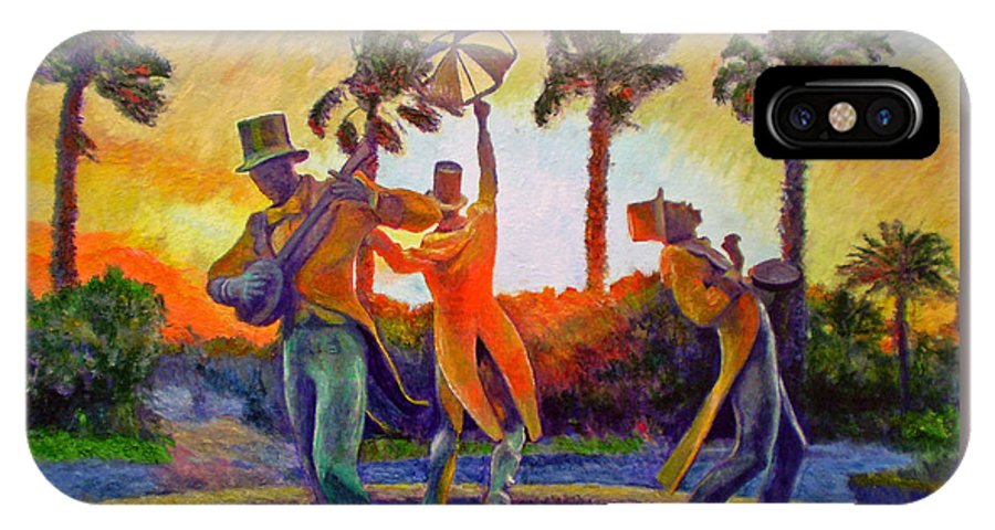 Sunset IPhone X Case featuring the painting Cape Minstrels by Michael Durst