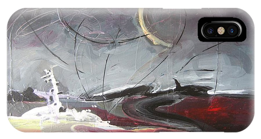 Abstract Paintings IPhone X / XS Case featuring the painting Cape St. Mary by Seon-Jeong Kim
