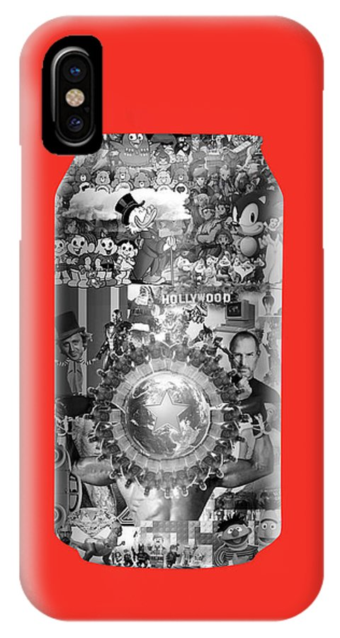 Cola IPhone X / XS Case featuring the digital art Capital by Carlos Prado