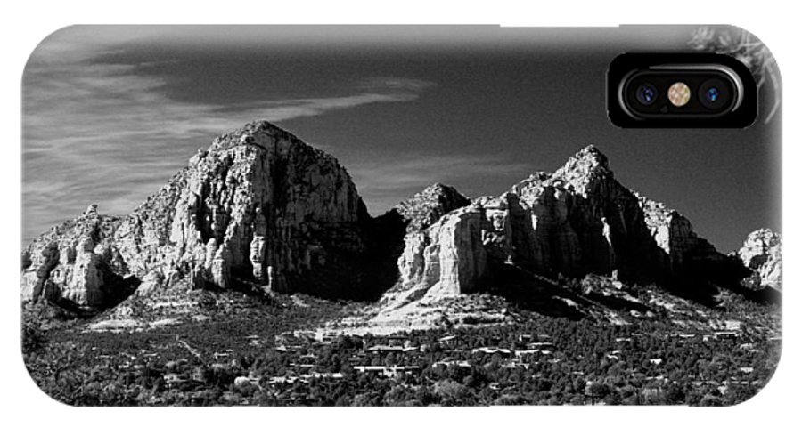Arizona IPhone X Case featuring the photograph Capital Dome Sedona Az. by Randy Oberg