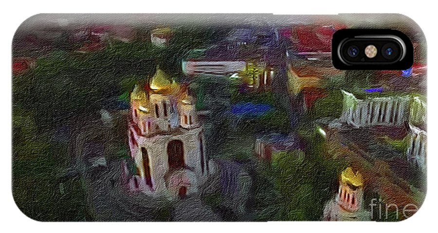 Architevture IPhone X Case featuring the digital art Capitol Graounds by Sobano S