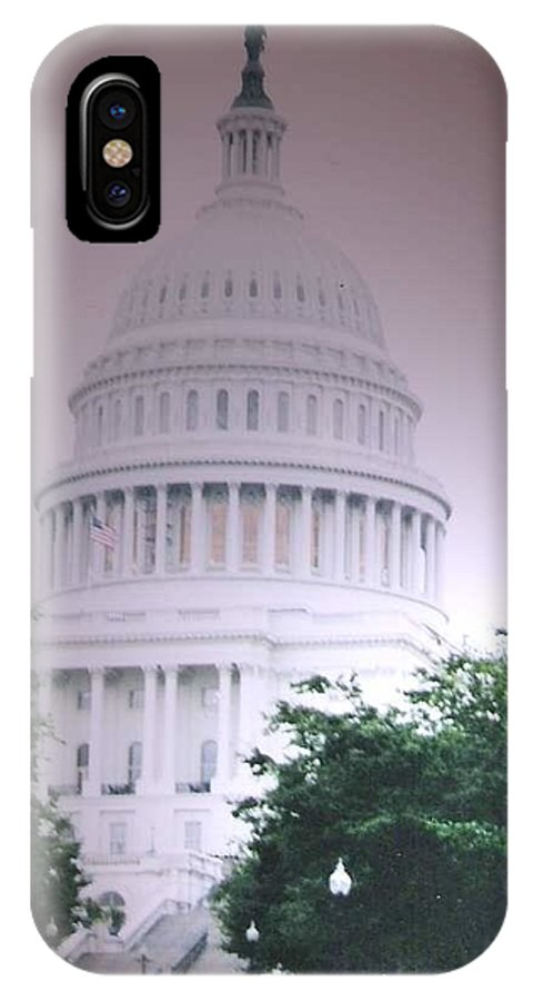 Capitol IPhone X Case featuring the photograph Capitol In Pink by Pharris Art