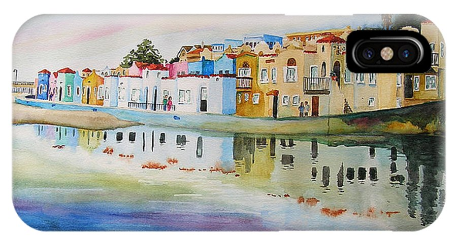 Capitola IPhone X Case featuring the painting Capitola by Karen Stark