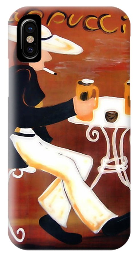 Cappuccino IPhone Case featuring the painting Cappuccino by Helmut Rottler