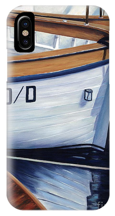 Nautical IPhone Case featuring the painting Capri Boats by Danielle Perry
